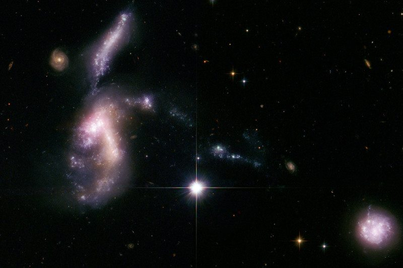 When galaxies collide NASA, ESA, S. Gallagher (The University of Western Ontario), and J. English (University of Manitoba)
