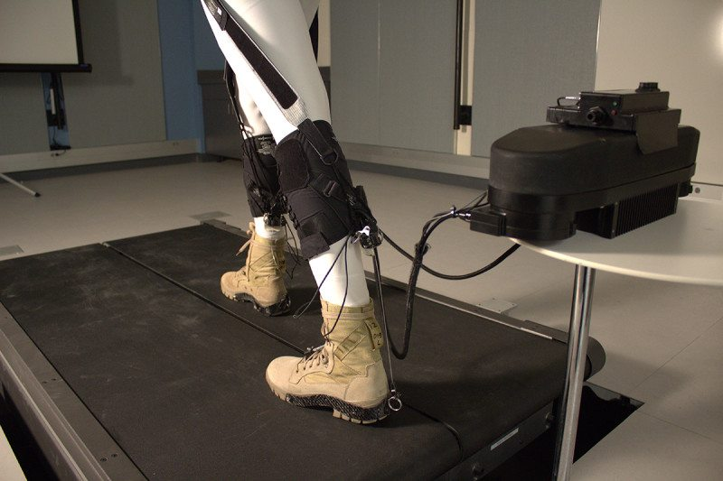 Legs showing exosuit