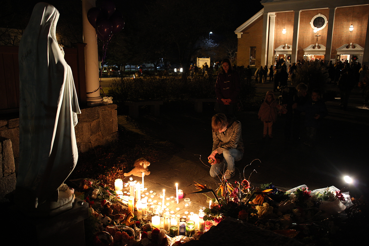 A vigil after a shooting