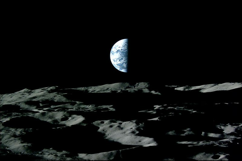 Moon shadow: clues to our early atmosphere