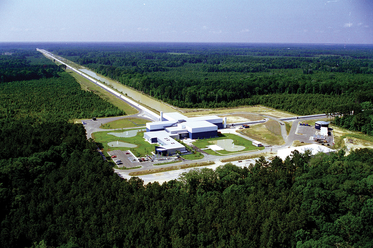 The LIGO detector site in Livingston, Louisiana