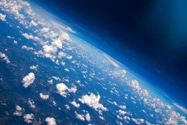 Earth from space, showing clouds