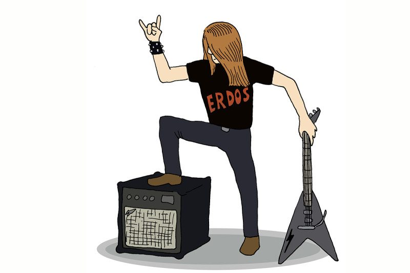 heavy metal musician cartoon