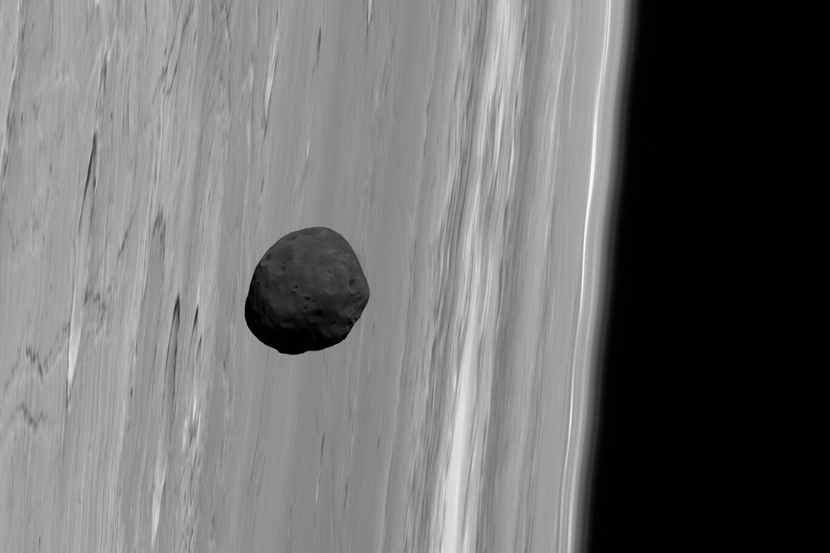 Phobos seen from Mars Express
