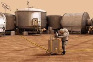Future astronauts will need places to live on Mars