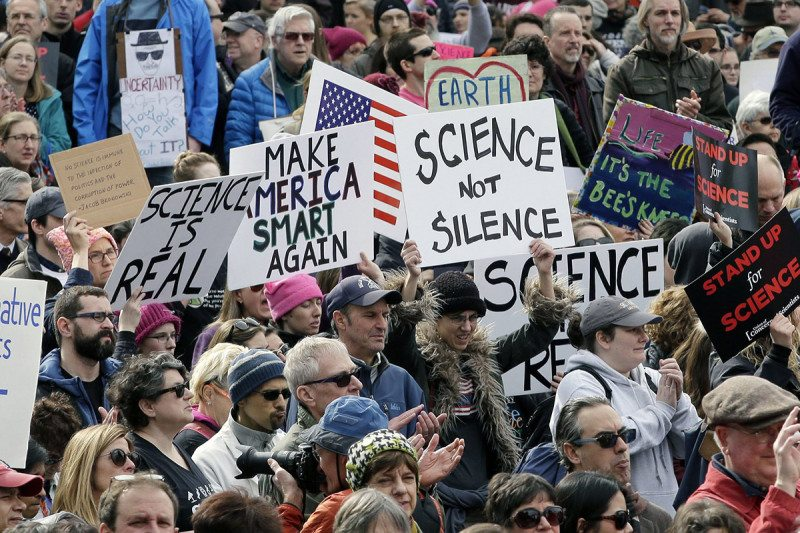 Science and research in USA 'under threat', say scientists protesting in Boston