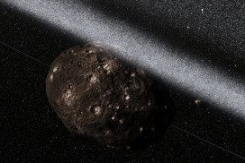 Artist's impression of asteroid with rings