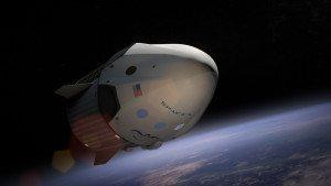 SpaceX's Dragon capsule in orbit