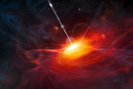 Artist's impression of quasar