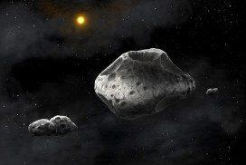Space rock clay blocks harmful rays