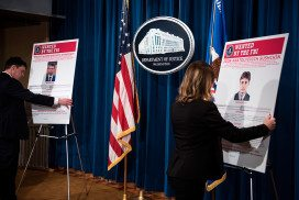Staff reveal wanted posters of two men linked to the Yahoo hack