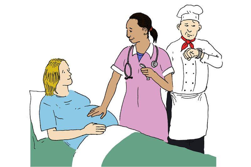 cartoon in a hospital