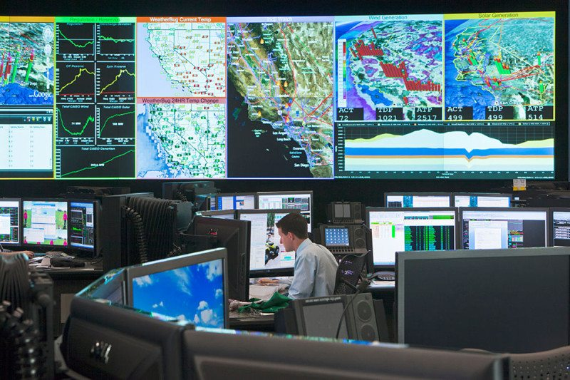 Electricity grid control room
