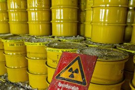 radioactive waste drums