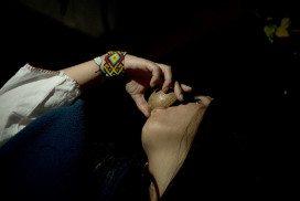Woman drinks mixture containing ayahuasca