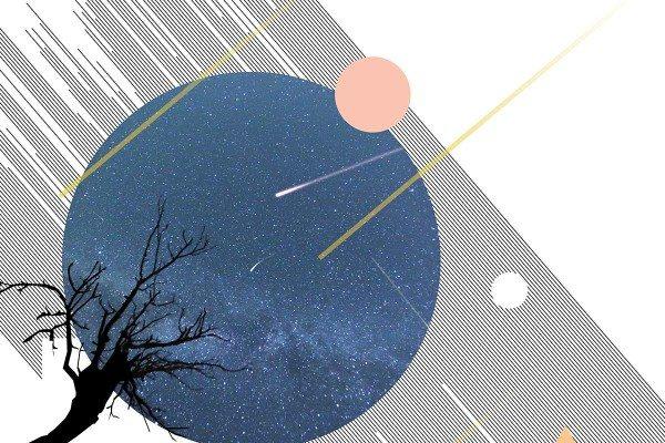 meteorite artwork