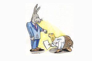 hare and tortoise cartoon