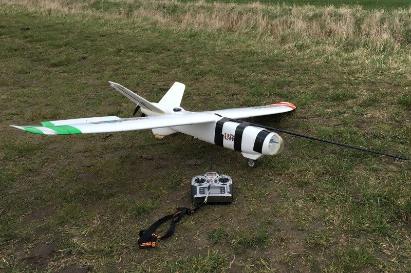 A fixed-wing drone