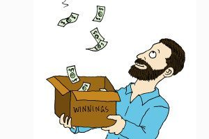 winning money cartoon