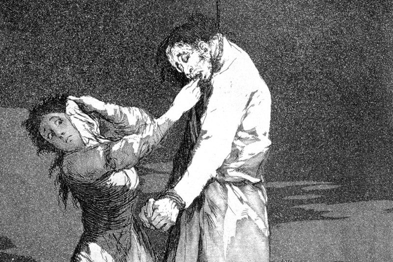 An etching by Goya in 1799
