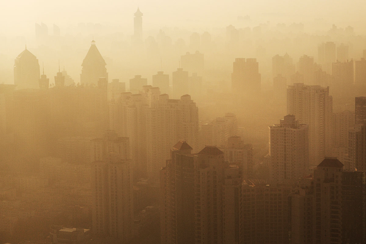 """smog as air pollution Those cities have struggled with a major air pollution problem and have pm25 levels around double that of the us metropolis  or smog, """"slowed down."""