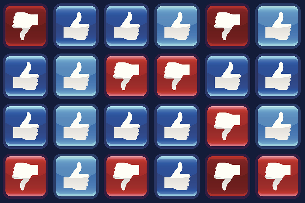 Facebook likes and dislikes