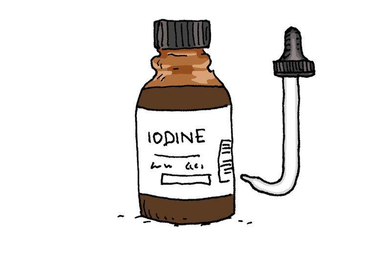 iodine cartoon