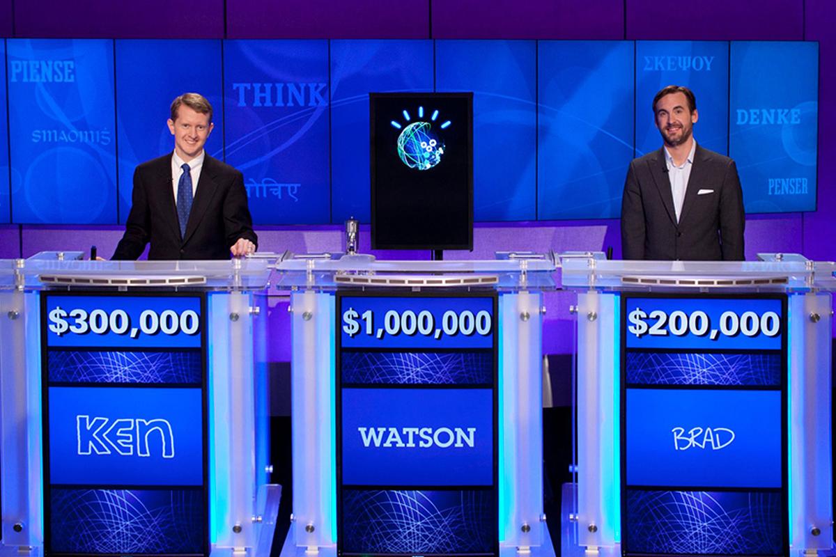 Watson playing Jeopardy!