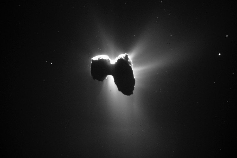Photo of comet 67P/Churyumov–Gerasimenko taken by the Rosetta spacecraft