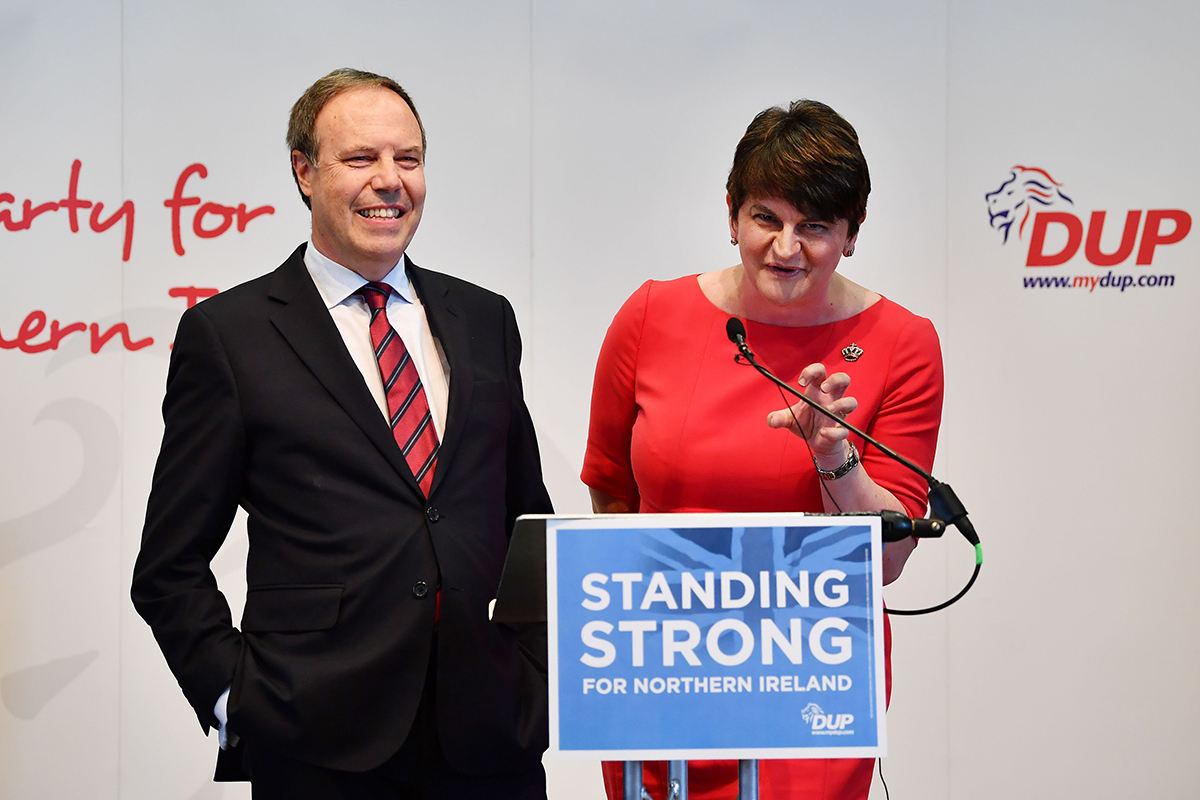 Nigel Dodds and Arlene Foster, DUP deputy leader and leader