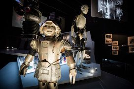 Robots in Into the Unknown exhibition