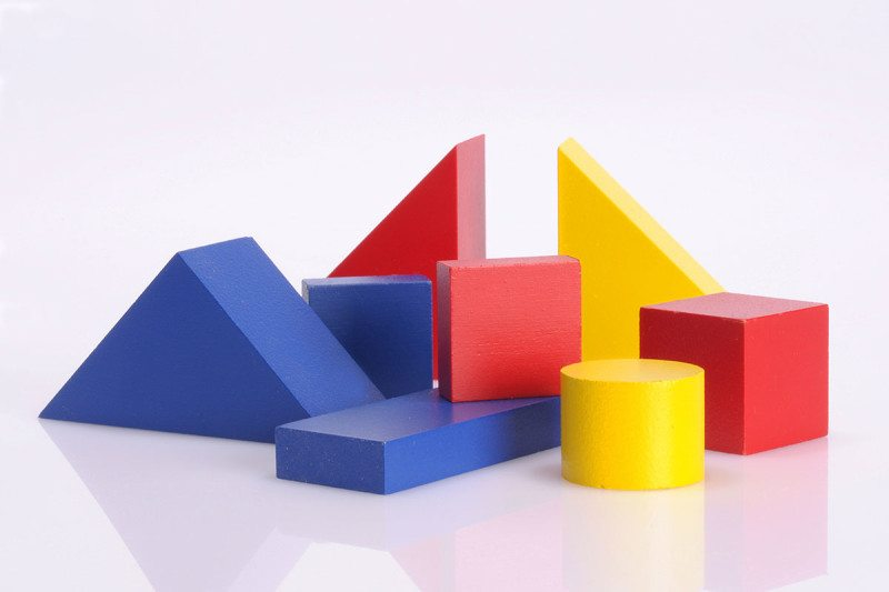 A vareity of different coloured shapes