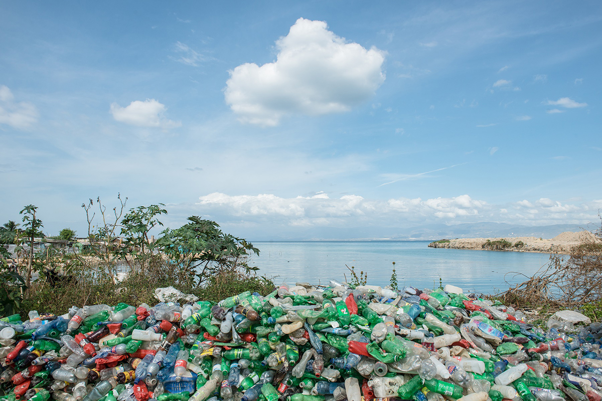 Ocean plastics from Haiti's beaches turned into laptop packaging