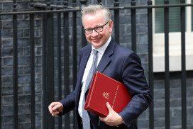 Michael Gove, U.K. environment secretary, arrives at Downing Street in London, U.K., on Monday, June 12, 2017