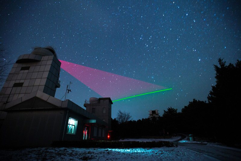 Quantum satellite Micius has sent entangled photons to ground stations on Earth. Image: Jin Liwang Xinhua/eyevine