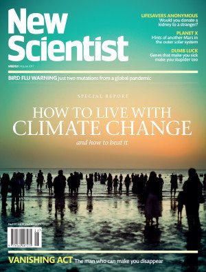 New Scientist climate change cover