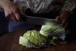 Pieces of cabbage