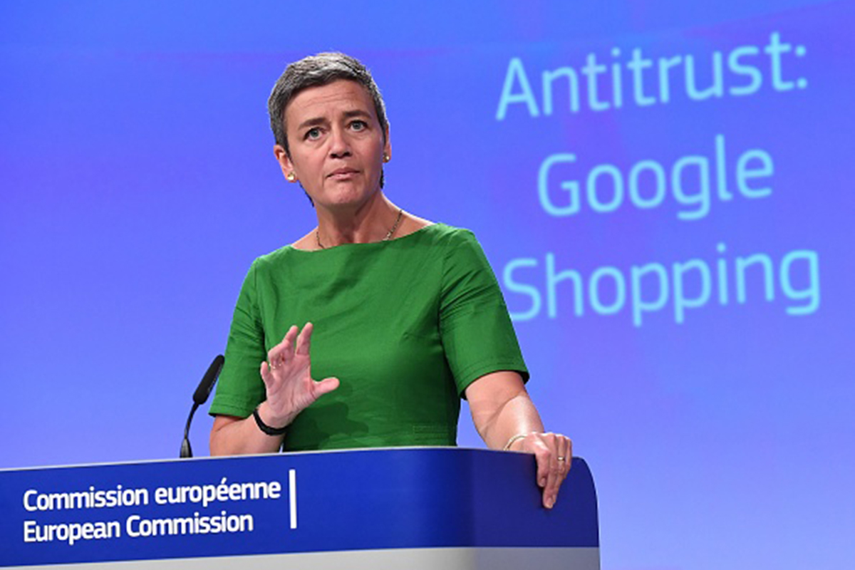 Margrethe Vestager announces the fine for Google