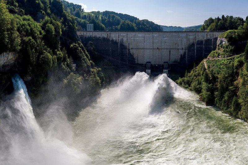 river, dam