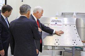 VP Mike Pence on a NASA tour