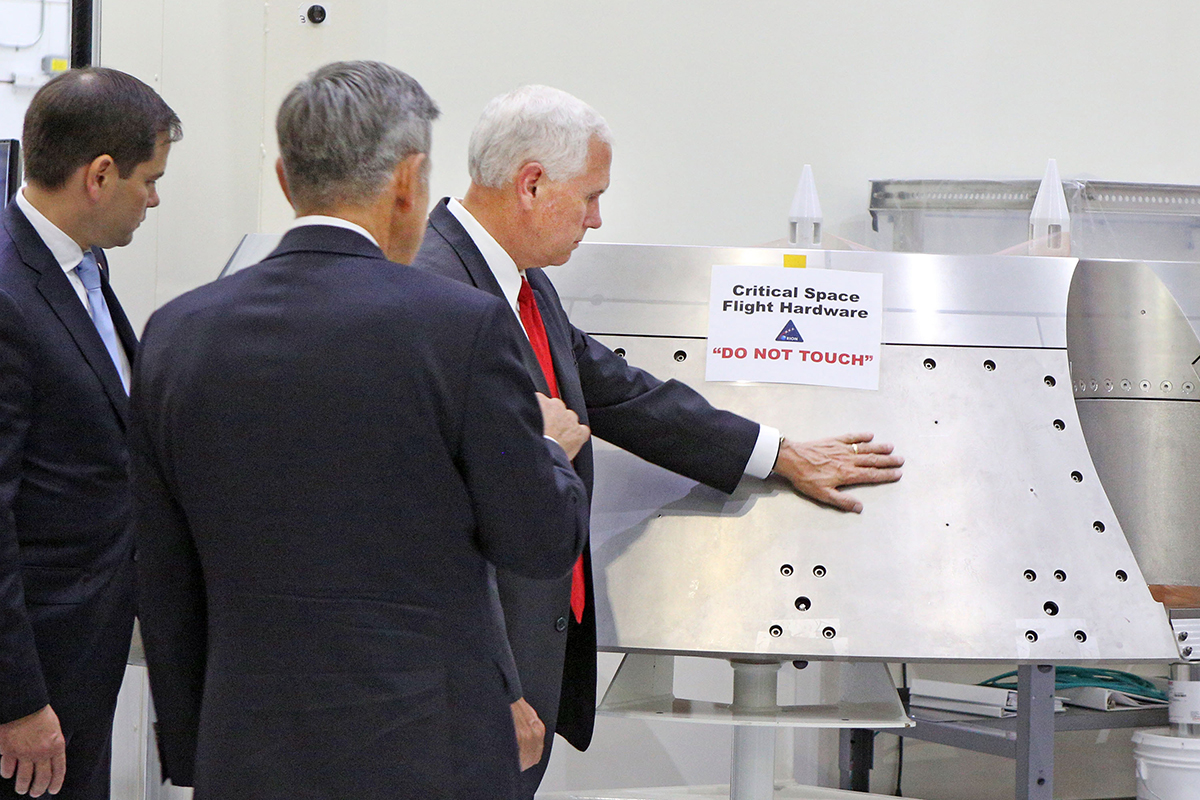 VP Mike Pence on a NASA tour
