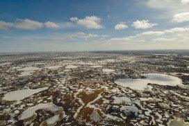Melting tundra
