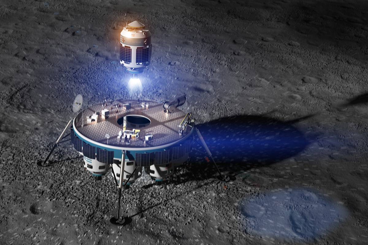 Artist's impression of sample return capsule