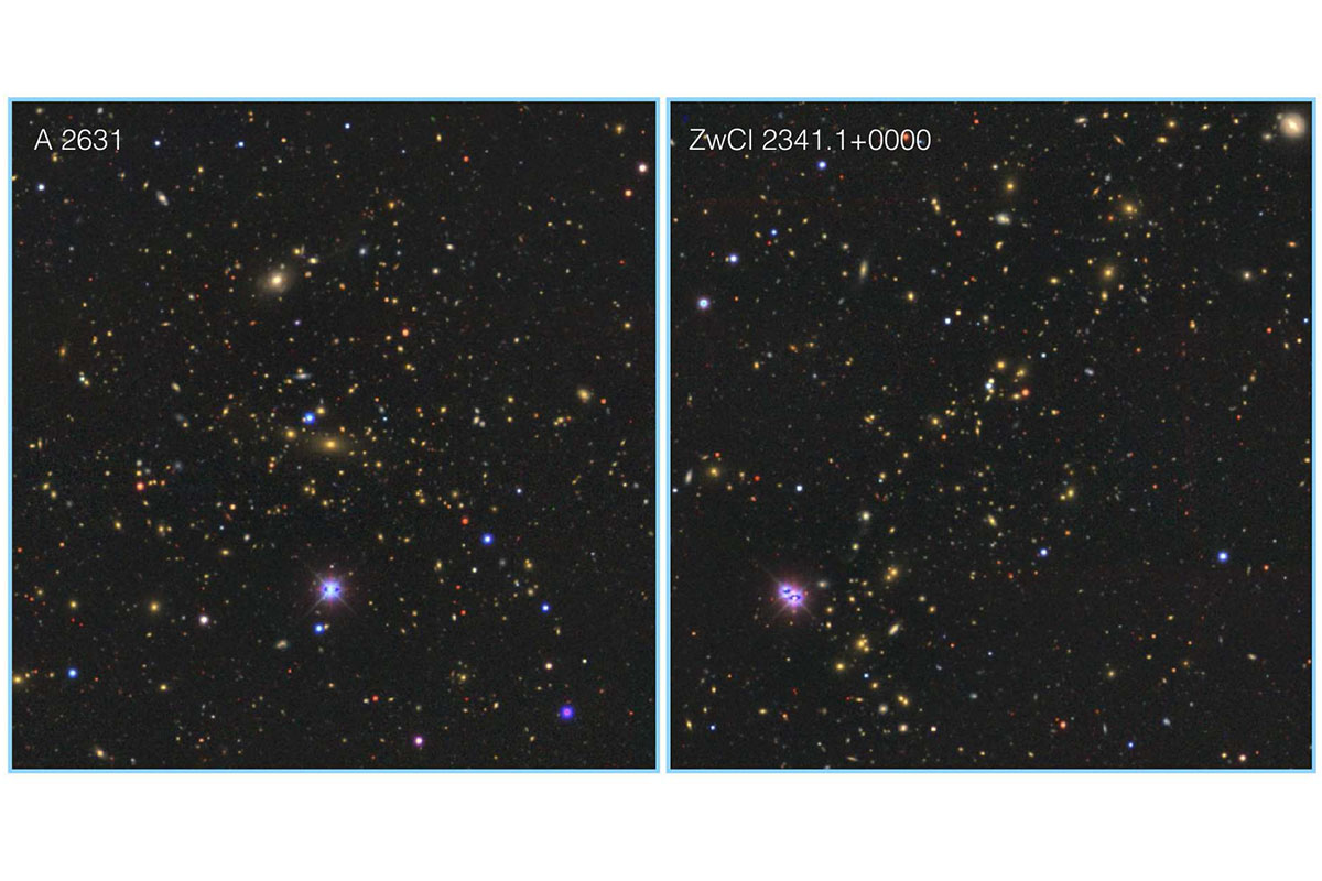 Optical images of the two most massive clusters of the Saraswati supercluster
