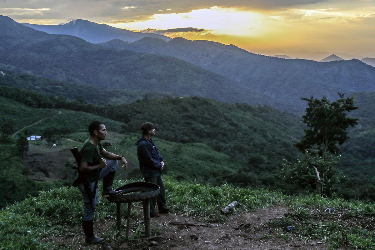 FARC guerillas on guard