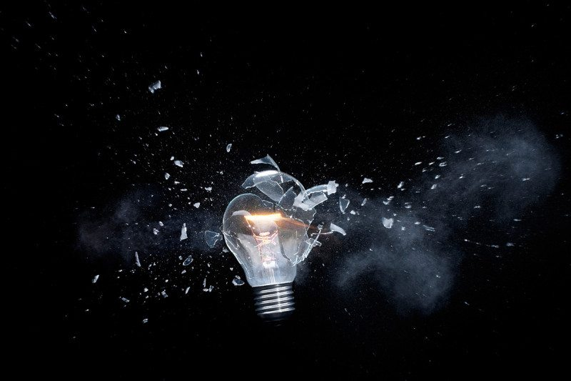 Exploding lightbulb