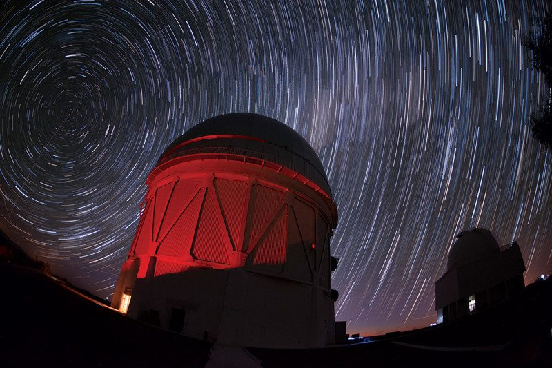 Victor M. Blanco Telescope and stars