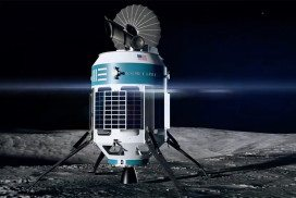A rendering of a Moon Express spacecraft
