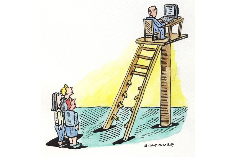 ladder cartoon