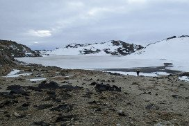 A lake in Antarctica where the R1S1 strain of Halorubrum lacusprofundi was discovered